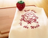 Personalized 100% Linen Tea Towels - Best Chef -   Hand Towel, kitchen, Hostess gift,
