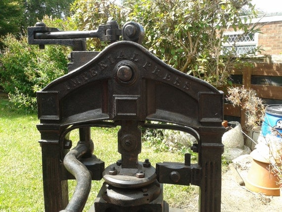 imperial printing etching press circa 1840 1860 very rare