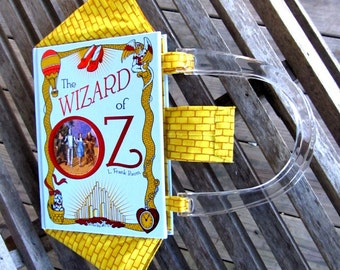 Book Purse: The Wizard of OZ by L. Frank Baum - Leather Purse - Made to Order