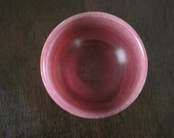 Pink jade circular bowl
