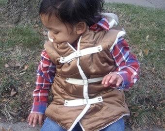 TMD: toddlers custom corduroy puff jacket, boys or girls unisex, stylish urban street style made to order