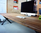 Reclaimed Wood and Steel Desk / Table by moss Design