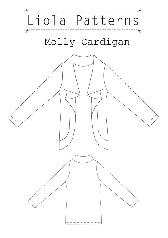 Molly Cardigan PDF Sewing Pattern