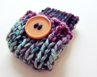 Knit Cell Phone Case I-Phone Cozy Knitted Crochet Button Gadget Cover Cellular