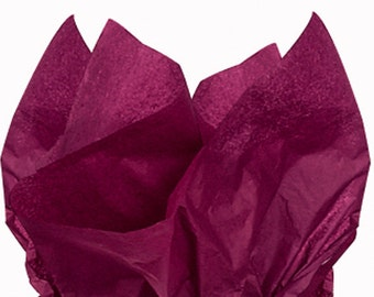 "Tissue Paper 24 sheets Burgundy Wine    DIY  Wedding Decor Craft Supplies  20"" X 30"" Gift Wrap, Favor Box Tissue, DIY Pom Pom Supplies"