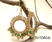 Bead tutorial, Gipsy Lace earrings, Earrings pattern with seed beads and firepolish