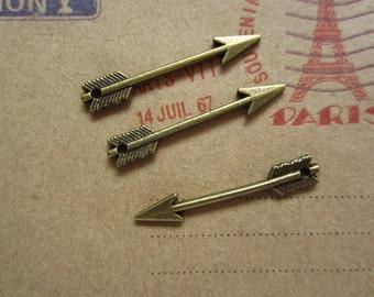 50pcs 30x4mm antique bronze arrow charms pendant  C3081