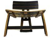 Bourbon Barrel Dresser Chair (black, natural oak, brown, green, stainless steel, dining)