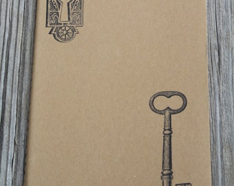 Lock & Key Lined Paper Journal