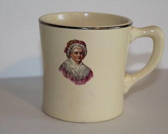 Vintage 1732-1932 Washington Bicentennial Martha Washington Mug