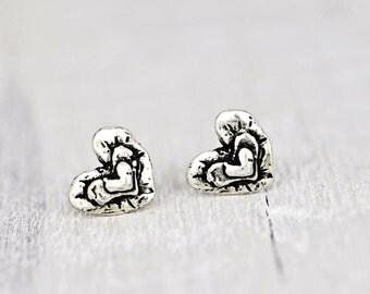 Triple Heart Earrings - Heart Jewelry - Romantic Jewelry - Island Cowgirl - E719