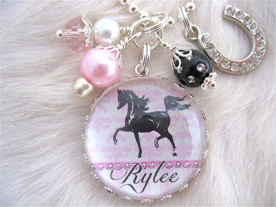 HORSE Necklace, Horse shoe Necklace, Equine Equestrian, riding jewelry, Cute Dainty Necklace, Personalized Gift Children's Present,