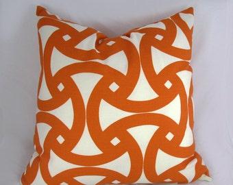 Trina Turk - Schumacher - Decorative Pillow Cushion Cover - Accent Pillow - Throw Pillow - Santorini Persimmon Print - indoor outdoor