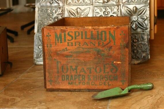 Reserve for Luci - Vintage Crate, Wedding Decor, Wedding Card Box, Home Decor, Tomato Crate, Vegetable Crate, Primitive, Garden