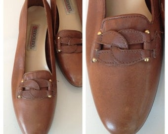 Bandolino Leather Flats 1980s 8 1/2 N