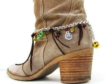 Cowgirl Boot Jewelry, Boho Anklet, Ankle Bracelet, Boot Anklet, Free Spirit , Shoe Anklet, Foot Accessory