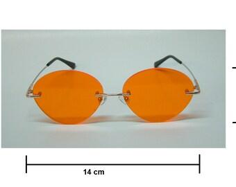 Anime orange cosplay aviators costume glasses
