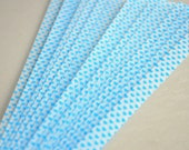 Blue Hearts Vellum Glow in the Dark Origami Lucky Star Paper Strips - About 30 strips