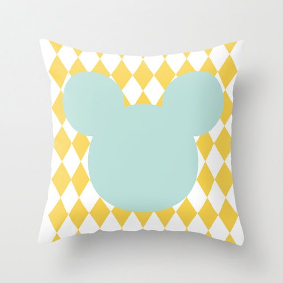 items similar to pillow cover mustard yellow argyle. Black Bedroom Furniture Sets. Home Design Ideas