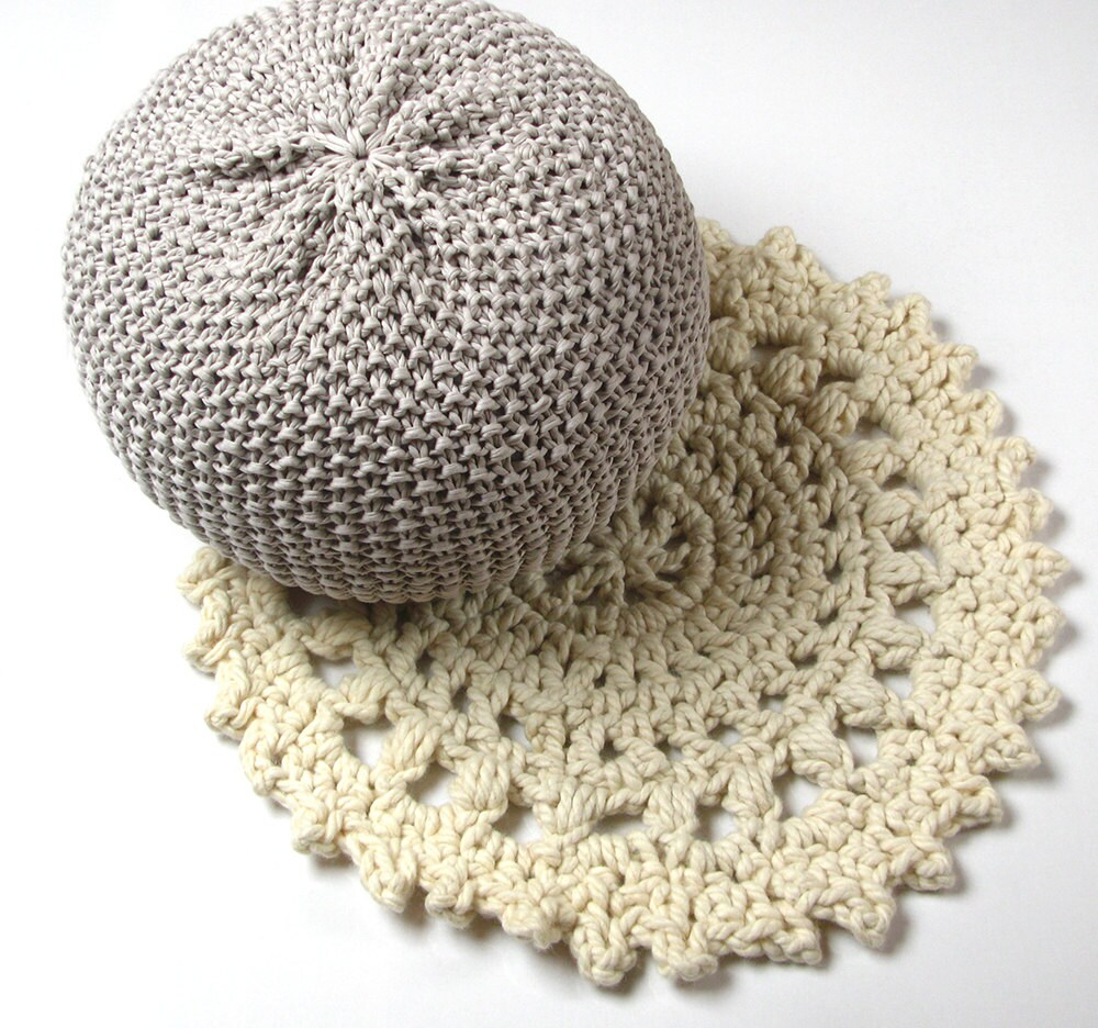 Uncinetto tappeto in pura lana mandala tappeto di - Tappeto mandala ...