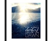 Printable Art Photography Print Darkest Before The Dawn Mountain 8x10