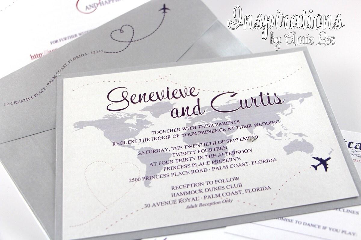 Themes For Wedding Invitations: Travel Theme Wedding Invitations