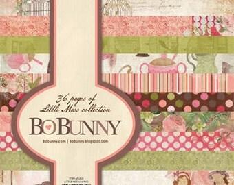 Bo Bunny LITTLE MISS 6x6 paper pad BoBunny paperpad 6 x 6