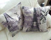 "NewPrice! Paris Toile 18"" Set of Two"
