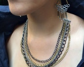 Isis - Layered Chain Statement Necklace