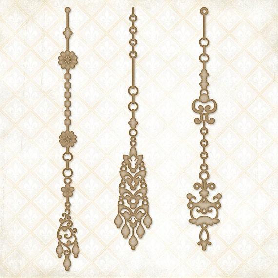 Blue Fern Studios Chipboard - Jeweled Page Dangles