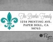 Classic Parisian Fleur De Lis Labels - Assorted Colors Available - Custom Personalized Return Address Labels - Housewarming Gift.