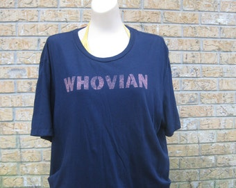 W H O V I A N navy blue T shirt  Women's size XL