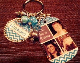 PERSONALIZED Grandma Gift, PHOTO Key Chain, Mom, Grandma, Aunt, Nana, Mimi, Mother's Day Jewelry