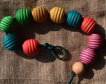 Wooden Lacing Beehive Beads - Montessori Inspired Learning Tool