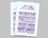 Instant Download - Wedding Reception- I Spy Game - Purple