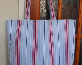 Roomy Lined Cotton Duck Beach Bag