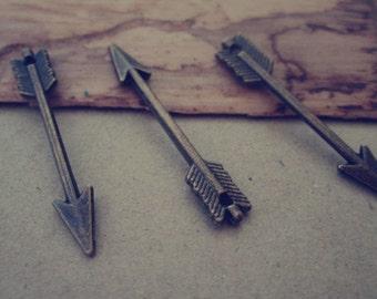 30pcs of Antique bronze Arrow charm pendant  5mmx30mm