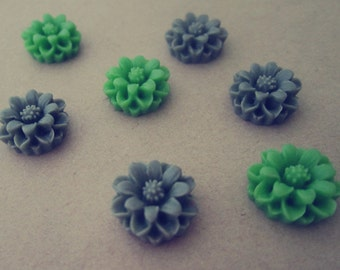 15pcs  Mixed color  Resin Flowers 13mm