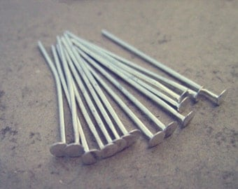 100 pcs silver color head pins 26mm