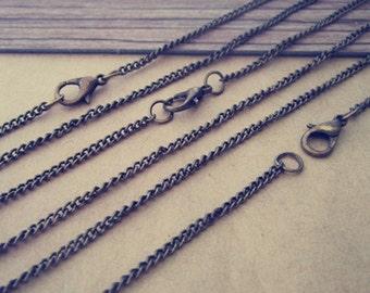 50pcs 2mmx3mm  antique Bronze necklace chain 24 inche