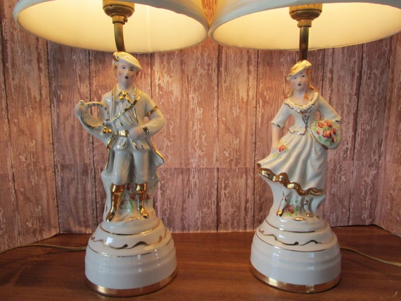 Country End Table Lamps: Items Similar To French Country , Shabby Chic Lamps