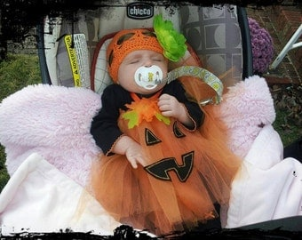 Handmade Gorgeous Pumpkin/Jack-o-lantern Halloween Costume