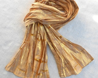 Vintage Gold Shinny Scarf