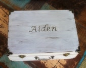 Personalized Memory Keepsake Box Time Capsule (YoUr COLOR and MeSsAgE Choice) MEDIUM