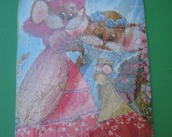 Wedding Mice -  Playroom Murfett - Tray Jigsaw Puzzle Vintage