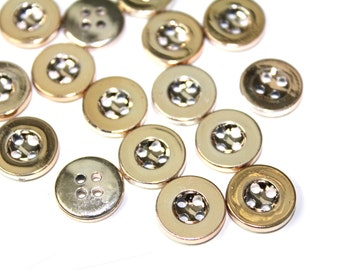 30 Pcs Gold Sew On Buttons For Fashion Crafts and Accessories
