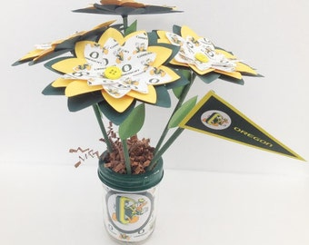 Oregon Ducks Handmade Paper Flower Bouquet