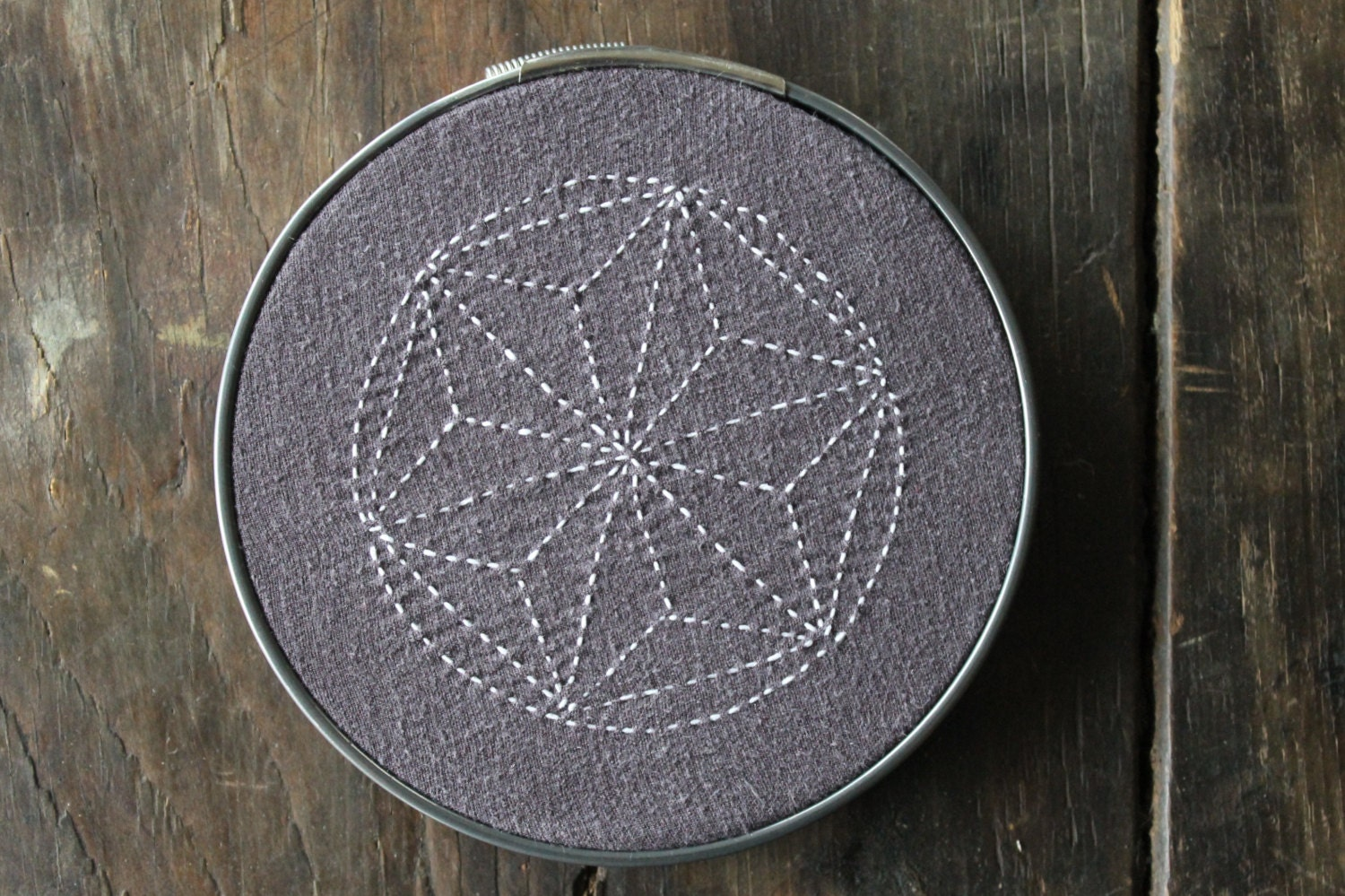 Pdf Sashiko Star Embroidery Pattern Home Decor Wall Art