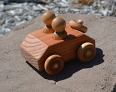 RunAbout, Redwood Toy Car, Handmade