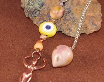 Dowsing Pendulum Mook Jasper Goddess Divination Gemstone OOAK New Age Pagan Magick Witchy Wicca 135965P